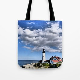 Headlight Lighthouse - Maine Tote Bag
