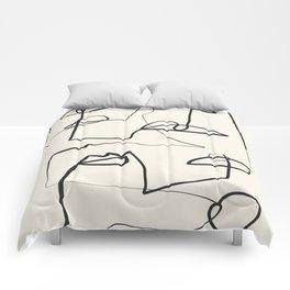 Abstract line art 12 Comforters