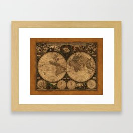 Nova Totius Terrarum Vintage Map Framed Art Print
