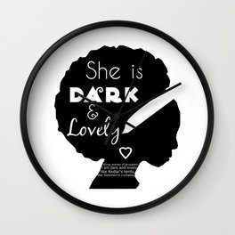 Dark and Lovely With Scripture Wall Clock