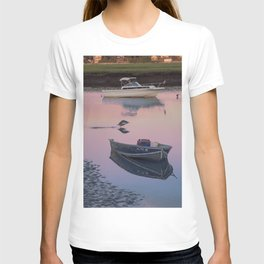 Two boats one seagull T-shirt
