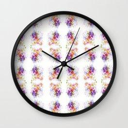 Sweet Flowers Watercolour Wall Clock