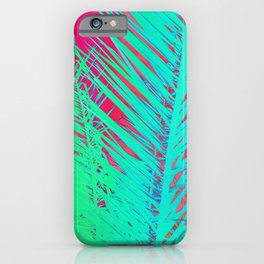 Funky palm leaves iPhone Case