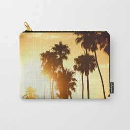 palm on venice at sunset Carry-All Pouch