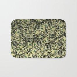 100 dollar cash get rich Bath Mat