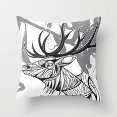 Elk black Throw Pillow