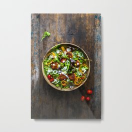 A salad, fresh from the farmers market Metal Print