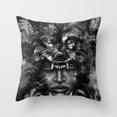 Empress Wolf Throw Pillow