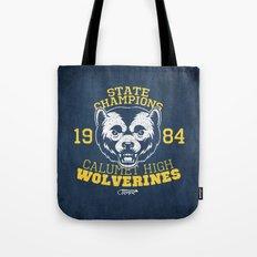WOLVERINES! (BLUE VARIANT) Tote Bag