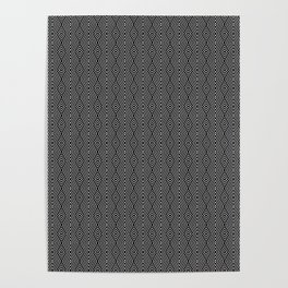 Dark Ethnic Geometric Pattern Poster