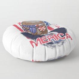 President Trump Merica Independence Day Floor Pillow