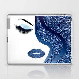 glittery woman Laptop & iPad Skin