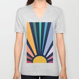 Rainbow Sunshine Unisex V-Neck