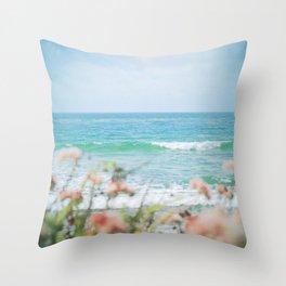 Seablush Throw Pillow