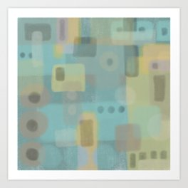 Some of this and that - Abstract Digital Art Art Print