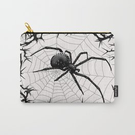 Briar Web- Black and White Carry-All Pouch