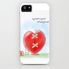 My heart is proof of having loved iPhone Case