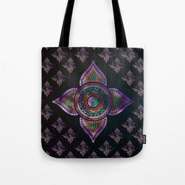 Beautiful  Yin yang in purple teal and orange Tote Bag
