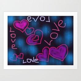 Love in the world Art Print