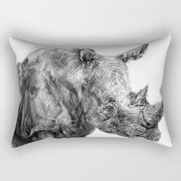 a Rhino called BigButy Rectangular Pillow