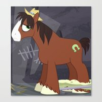 mlp Canvas Prints featuring MLP TROUBLESHOES CLYDE by Kalisourusrex