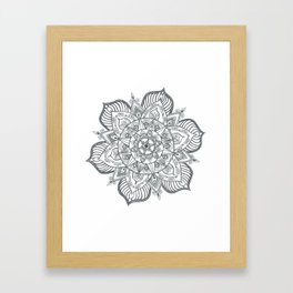 Inner Circle Mandala Framed Art Print