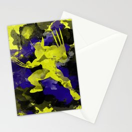 Wolver paint splash Stationery Cards