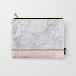 Marble Gold Blush Pink Pattern Carry-All Pouch