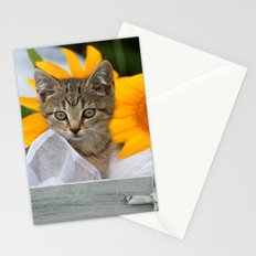 Sweet Tiger with sunflowers Stationery Cards