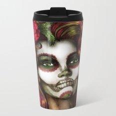 Victoria Rose Metal Travel Mug