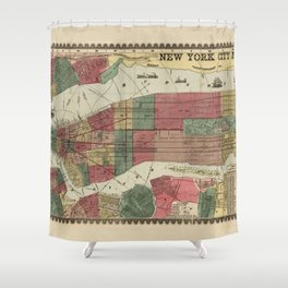 Miller's Map of the City of New York (1862) Shower Curtain