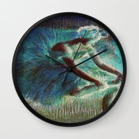 degas Wall Clocks featuring Ballerina Teal by PureVintageLove
