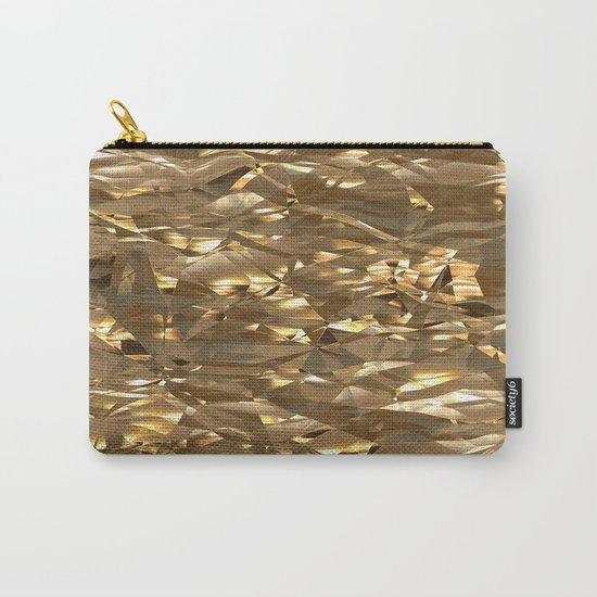 Golden Crinkle Carry-All Pouch