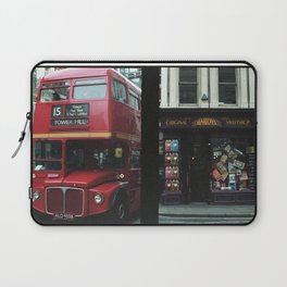 Red bus and a candy store - London Laptop Sleeve