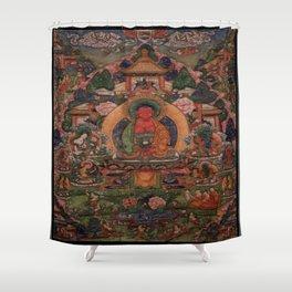 Buddha Amitabha in His Pure Land of Suvakti Shower Curtain