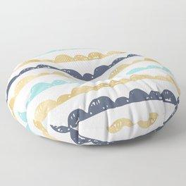 Golden Pastel Clouds Floor Pillow