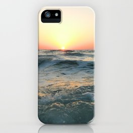 Sunsetting into Sea iPhone Case