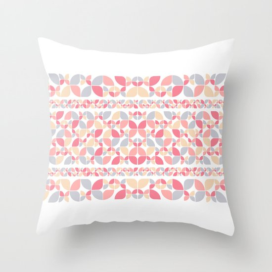 Soft Spring Pattern Throw Pillow