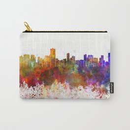 Salvador de Bahia skyline in watercolor background Carry-All Pouch