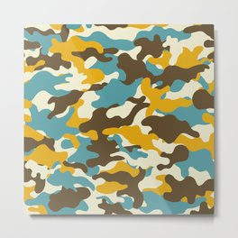 Colorful camouflage pattern Metal Print