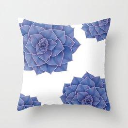 Elegant Big Purple Echeveria Design Throw Pillow