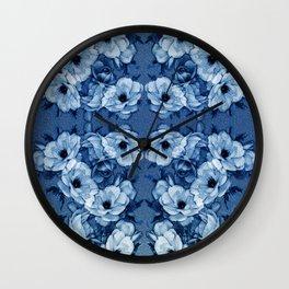Vintage Rosas Indigas Wall Clock