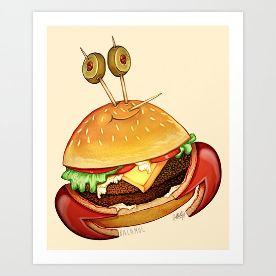 Krabby patty Art Print