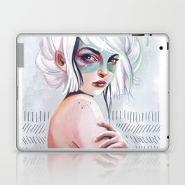silver hair girl waiting Laptop & iPad Skin