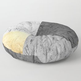 Gray marble and gold Floor Pillow