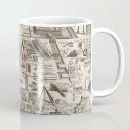 Vintage Military Defense Fortifications Diagram (1716) Coffee Mug
