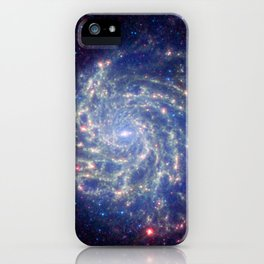 771. Spitzer Space Telescope View of Galaxy Messier 101 iPhone Case