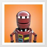 Andrew the robot. Art Print