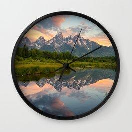 Wallpaper USA Grand Teton Nature Mountains Lake Parks landscape photography mountain park Scenery Wall Clock