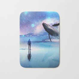 Walking with Whales Bath Mat